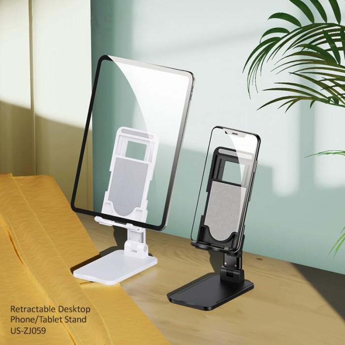 USAMS US-ZJ059 Angle Adjustable Retractable Desktop PhoneTablet Stand